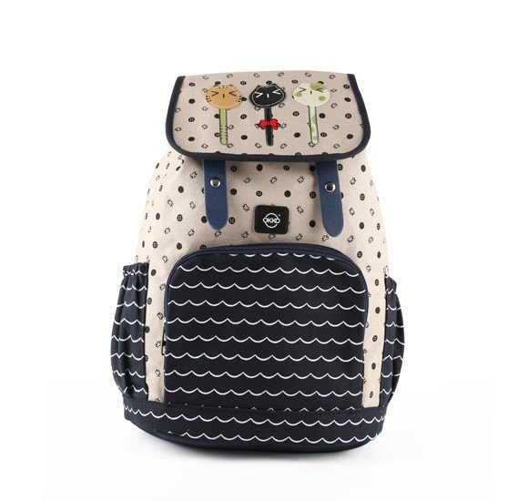 Okko  sports printed backpack beige-GH835-OK36407