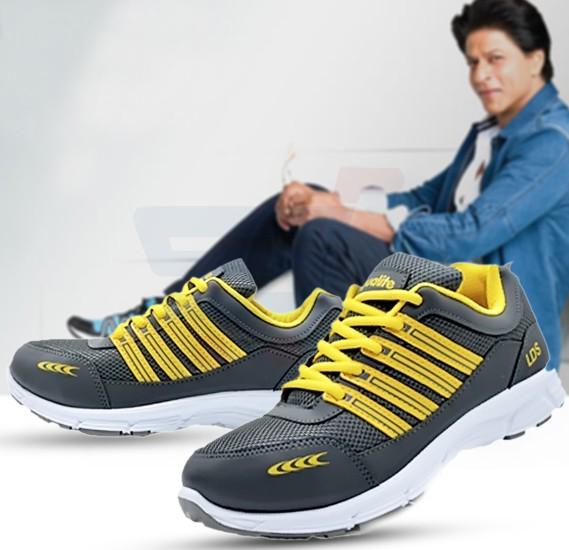 Aqualite J-121 Sports Wear Shoes For Men Size UK-8 Black/Yellow