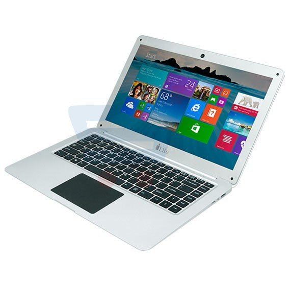 i-Life ZedAir Mini Thin.Light.Powerful Laptop, Intel inside, 10.6 Inch Display, 2GB RAM, 32GB Storage, Windows 10 - Silver
