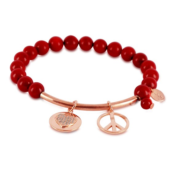 Coco88 Womens Stainless Steel Bracelet, 8 mm ,8CB-50007 RED SEA