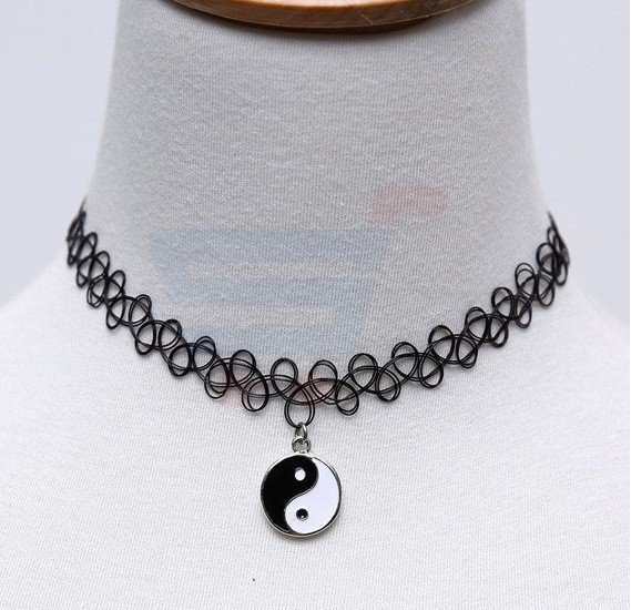 Vintage Magic Black Tattoo Choker Necklace For Women