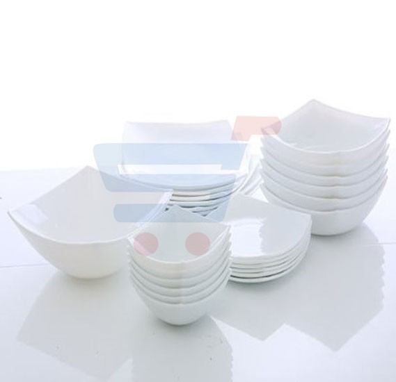 RoyalFord 26 Pieces Hard Square Dinner Set - RF6760