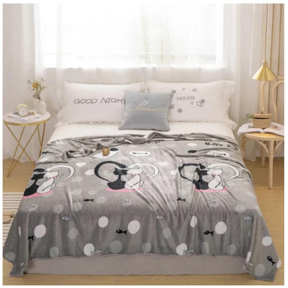 Soft Fleece Blanket Double Size, Pineapple Design.