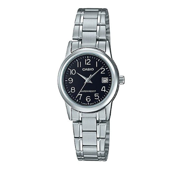 Casio Stainless Steel Watch For Women, LTP-V002D-1BUDF