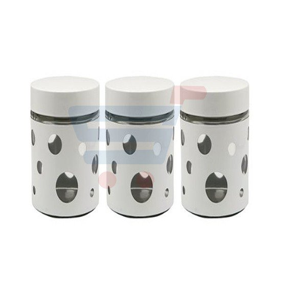 RoyalFord 3 Pieces Canister Set/Round Hole - RF7282
