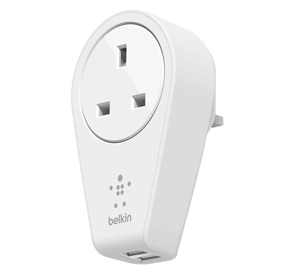 Belkin Rotating 2.4amp Dual Usb Wall Charger,White