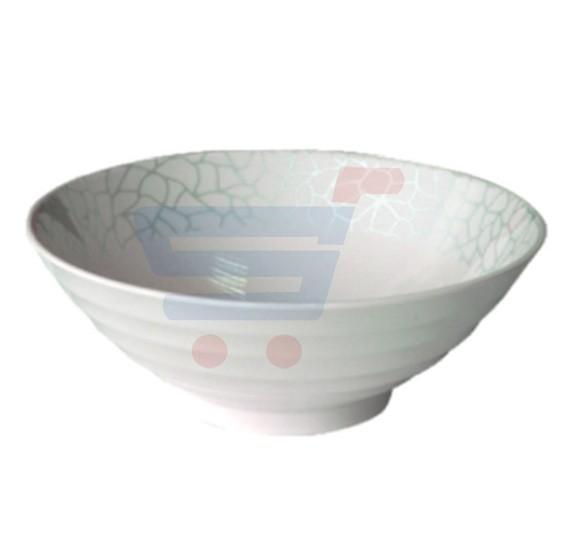Royalford Melamine Ware 9 inch Bowl White Pearl - RF4492