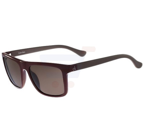 Calvin Klein Rectangle Brown Frame & Brown Mirrored Sunglasses For Women - CK3177S-607