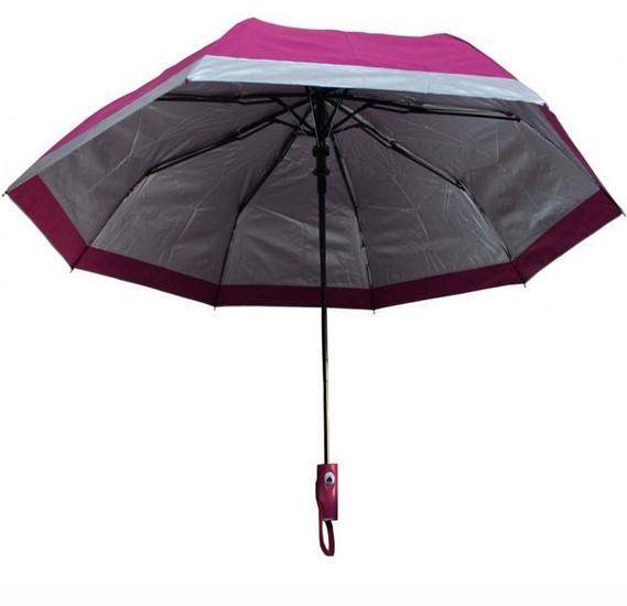 Hello Sun and Rain Stopper 3 Fold Automatic Open Umbrella with UV Protect