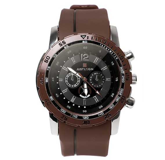 Just Login Brown Strap Wrist watch, Royalhand