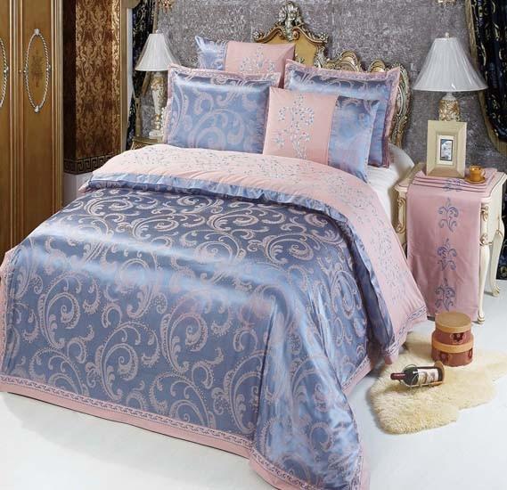 Senoures 100% Cotton Jacquard Quilt Cover 6Pcs Set King - SEJ-049