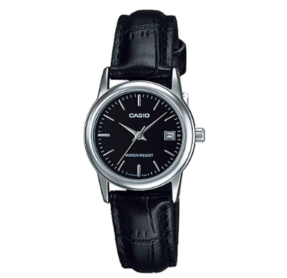 Casio Leather Strap Watch For Women, LTP-V002L-1AUDF