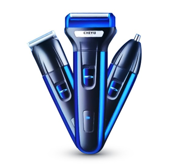 Chiyu Professional 3 in 1 Cordless Nose-Ear Trimmer, CHY7213