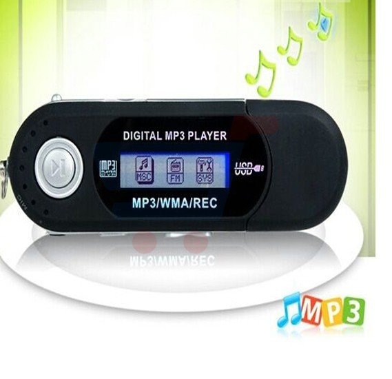 MINI USB Digital MP3 Player With 2GB Intetal Memory and LCD Screen Flash Music with WMA REC FM Radio -AAA battery player
