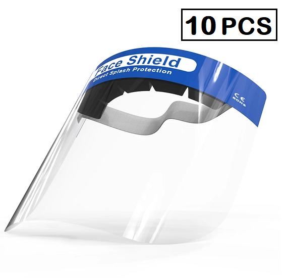 10 pcs, Disposable Medical Protective Anti-Fog Direct Splash Protection Face Shield