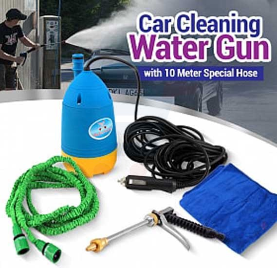 Bodnkadn 12V Car Cleaning Watergun with Normal Hose