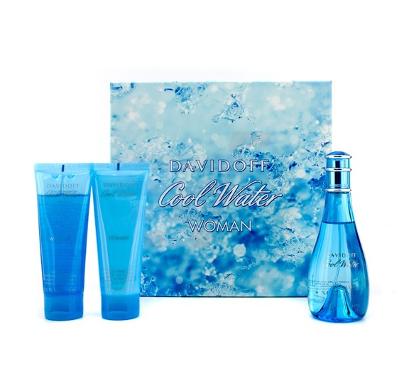 Davidoff Cool Water Gift Set EDT 100ml, Body Lotion 75ml and Shower Breeze 75ml
