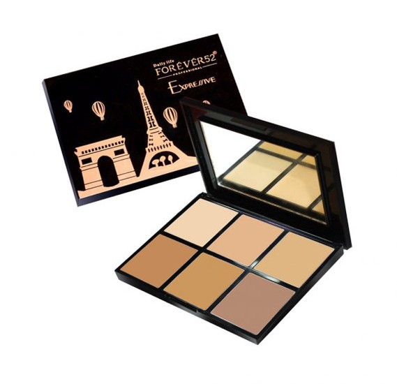 Forever52 6 Colour Expressive Contour Powder Brown TEX002