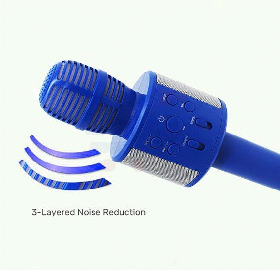 Wireless Karaoke Recording Microphone KTV HIFI Bluetooth Speaker With Mic, Q858