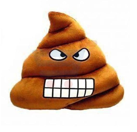 Emoji Poop Face Plush Pillow Round Cushion Toy 32CM