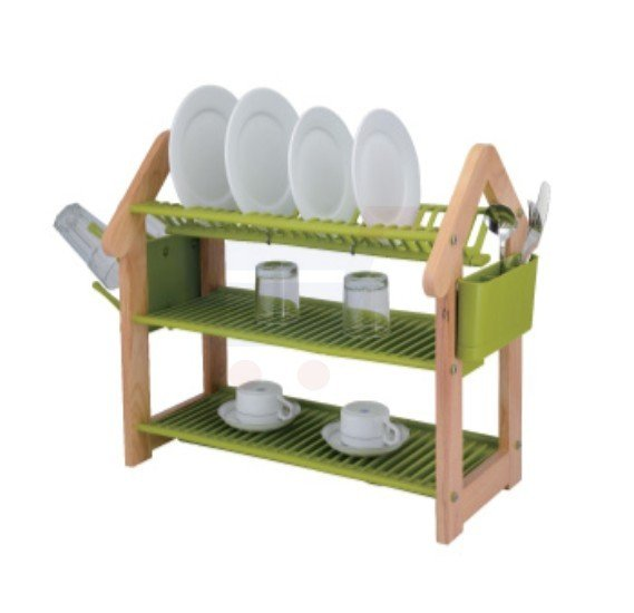 Flamingo Rubber Wood Dish Rack 3 Layer - FL1301DR