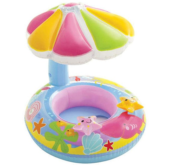 Intex Fish and Friends Baby Float, Multi - 56583
