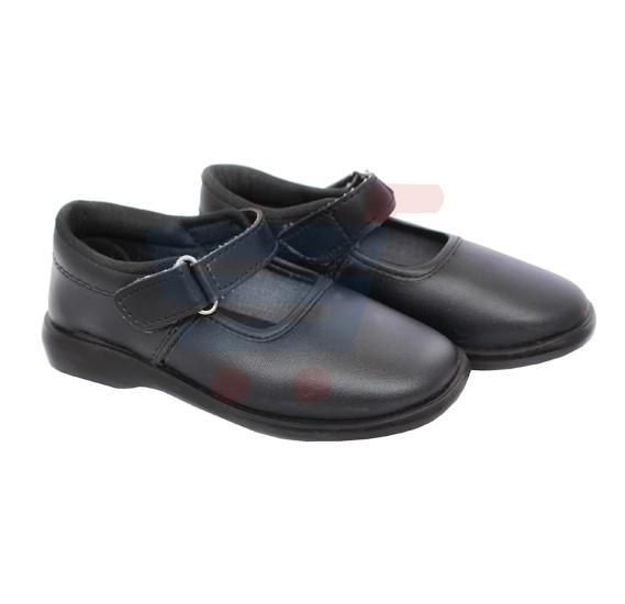 Wear Shoes For Girls Black PVC - Size