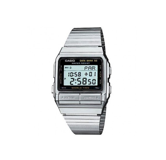 Casio Digital Stainless Steel Mens Watch  DB-520A-1DF