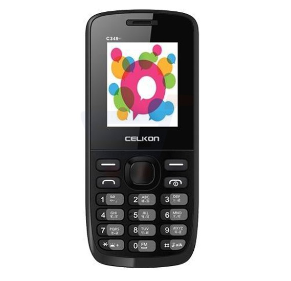 Celkon 349 Star Mobile Phone, 1.8 Inch Display,FM Radio, Bluetooth, Camera - Black