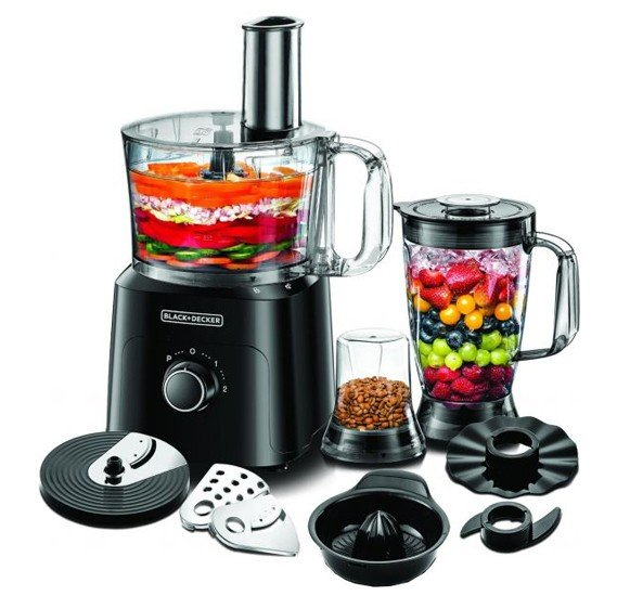 Black and Decker-750W food processor (w/o juice extractor) - 30 functions, FX775-B5