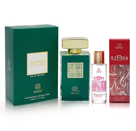 Ruky Dutch Green For Women 80ml+ Ruky Azbah Eau De Perfum 30ml