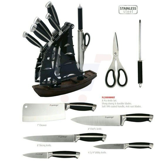 Flamingo Kitchen Knife Set - FL2000KNST