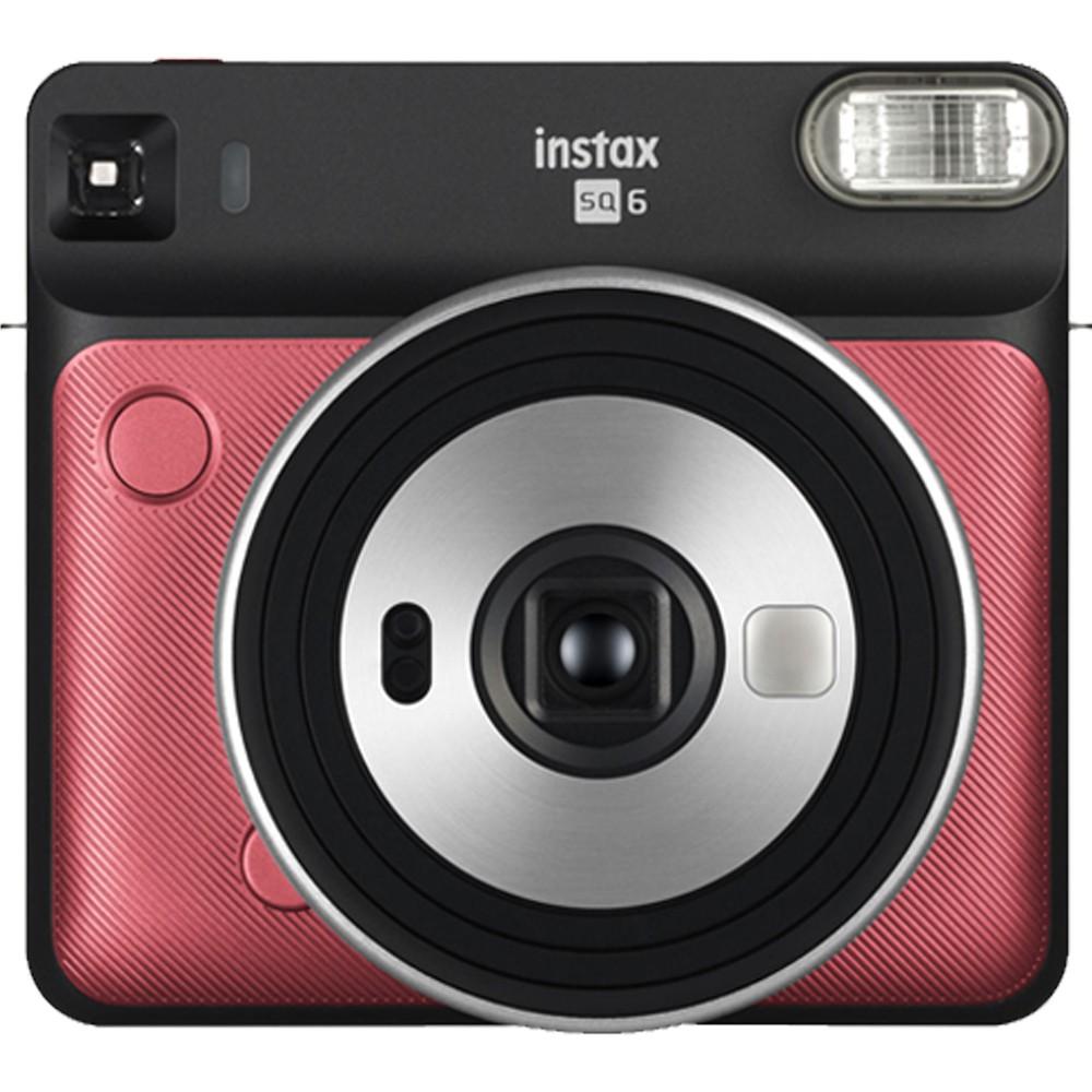 Fujifilm Instax Square SQ6 Instant Film Camera, MFFPIINCSQ6RR, Ruby Red