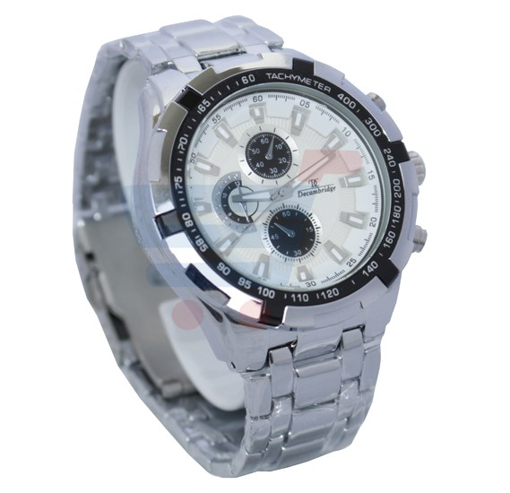 Decambridge Analog Watch For Men Silver Black - 1008C