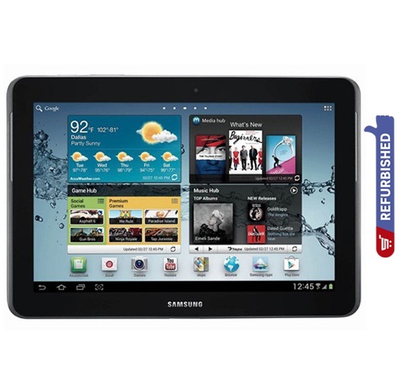 Samsung Galaxy Tab 2 10.1-Inch, Wi-Fi, 16Gb Refurbished- Silver