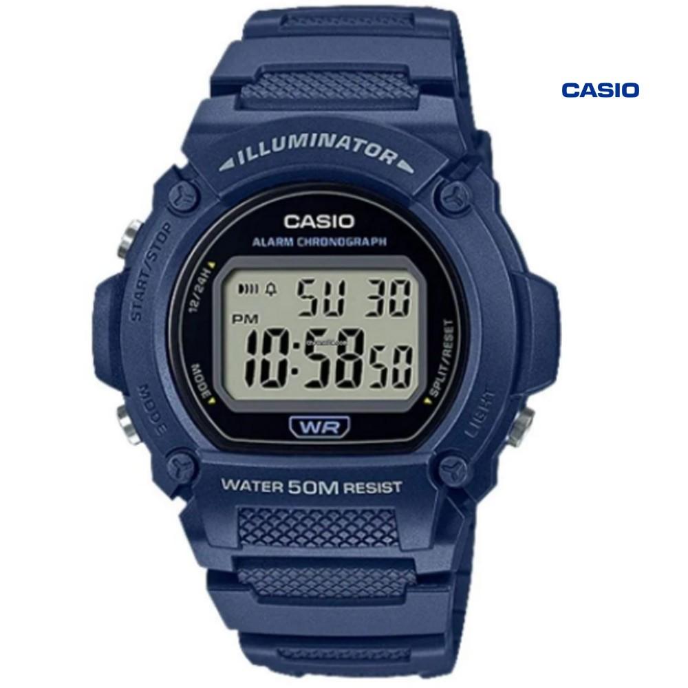 Casio W-219H-2AVDF Digital Watch for Men, Blue