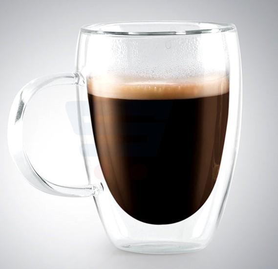 RoyalFord Glassware Double wall Coffee mug 300 ML - RF8639