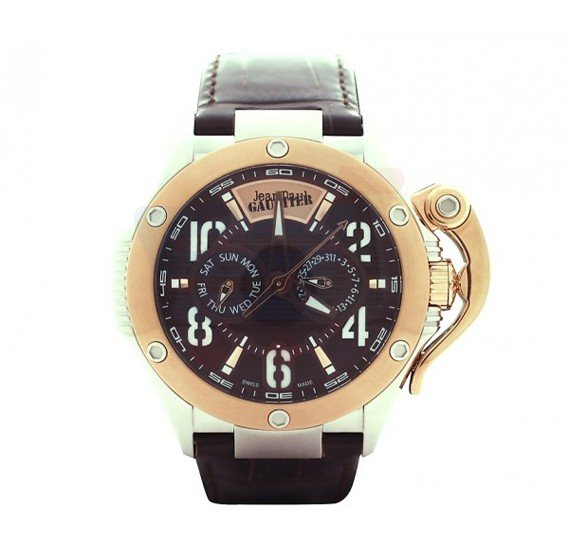 Jean Paul Gaultier Swiss Made  Men Black & Gold Watch - JPG0105005