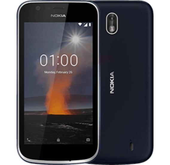 Nokia 1 4G Smartphone, Android 8.1, 4.5 inch, 1 GB Ram, 8 GB Storage, Dual Sim, Dual Camera - Blue