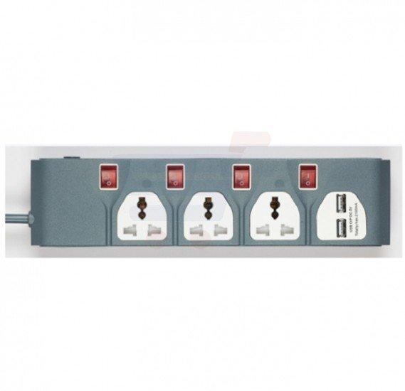 Olsenmark 3 Way Extension Socket - OMES1730
