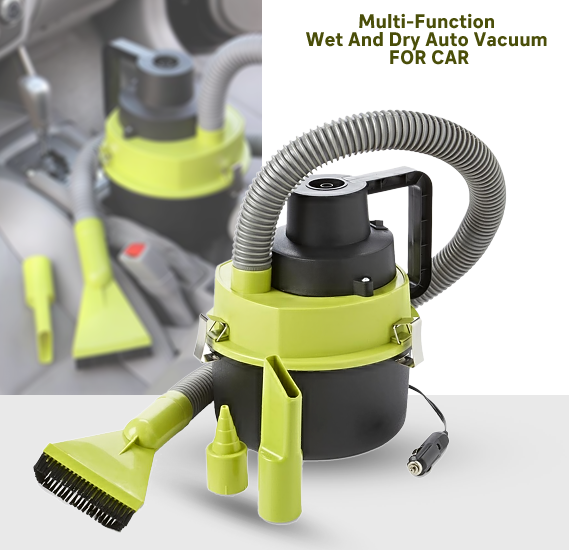 The Black 12V Multi-Function Wet and Dry Auto Vacuum