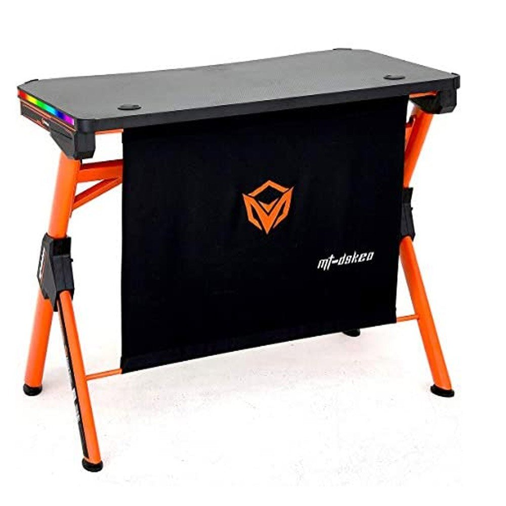 Meetion RGB LED PC Computer Gaming Desk or E-sport with LED Lights DSK20