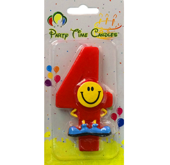 Party Time Smiley Candle 4 M082