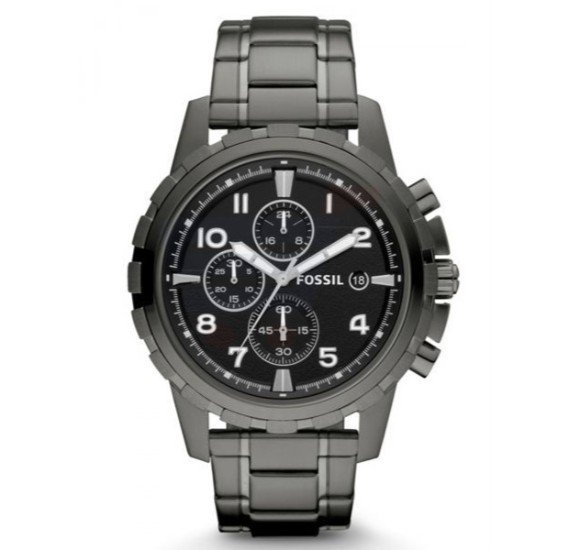 005a6d30779 Fossil Dean Black Dial Stainless Steel Band Chronograph Watch For Men -  FS4721 ...