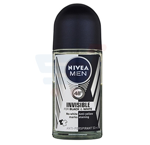 NIVEA Black & White Fresh Roll-On Deo For Men 50 ML