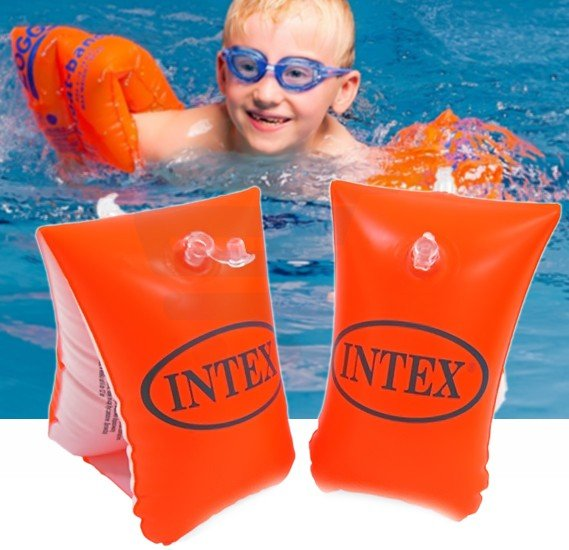 Intex Deluxe Arm Bands Swimming Aid, 58641NP