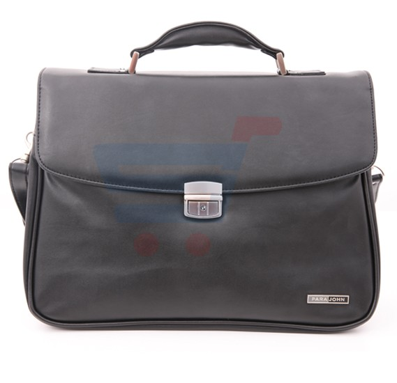 Para John 16 5 Inch Executive Office Bag Black Pjeb9102