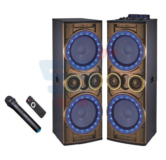 Geepas GMS8518 2.0 Channel Professional Speakers with Bluetooth Gold