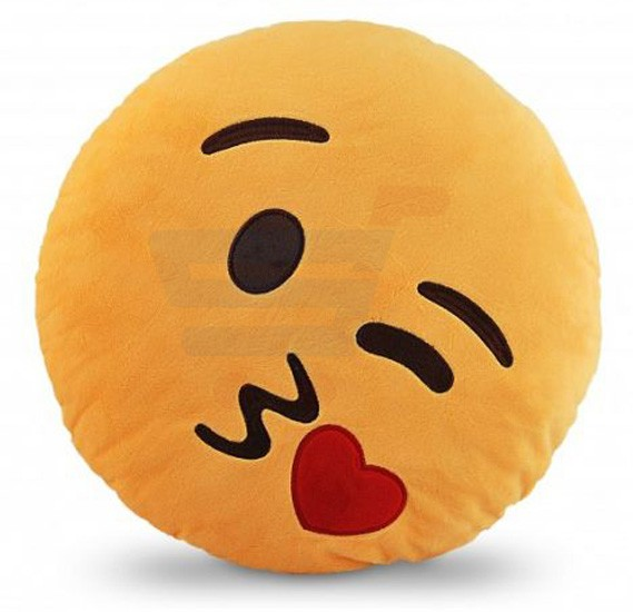BeeCool Emoji Smiley Emoticon Yellow Round Cushion Pillow