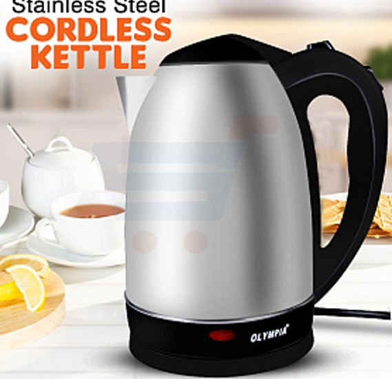 Olympia 2.0 Liter Stainless Steel Electric Cordless Kettle, OE-49